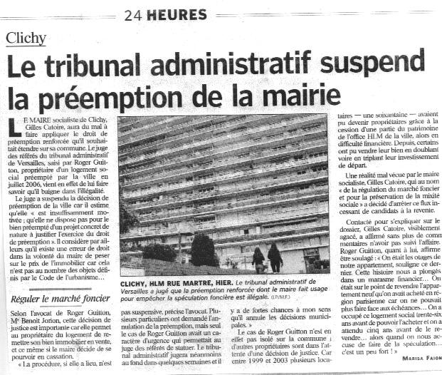 Le parisen 19 octobre 2006 droit de pr emption - Le droit de preemption ...